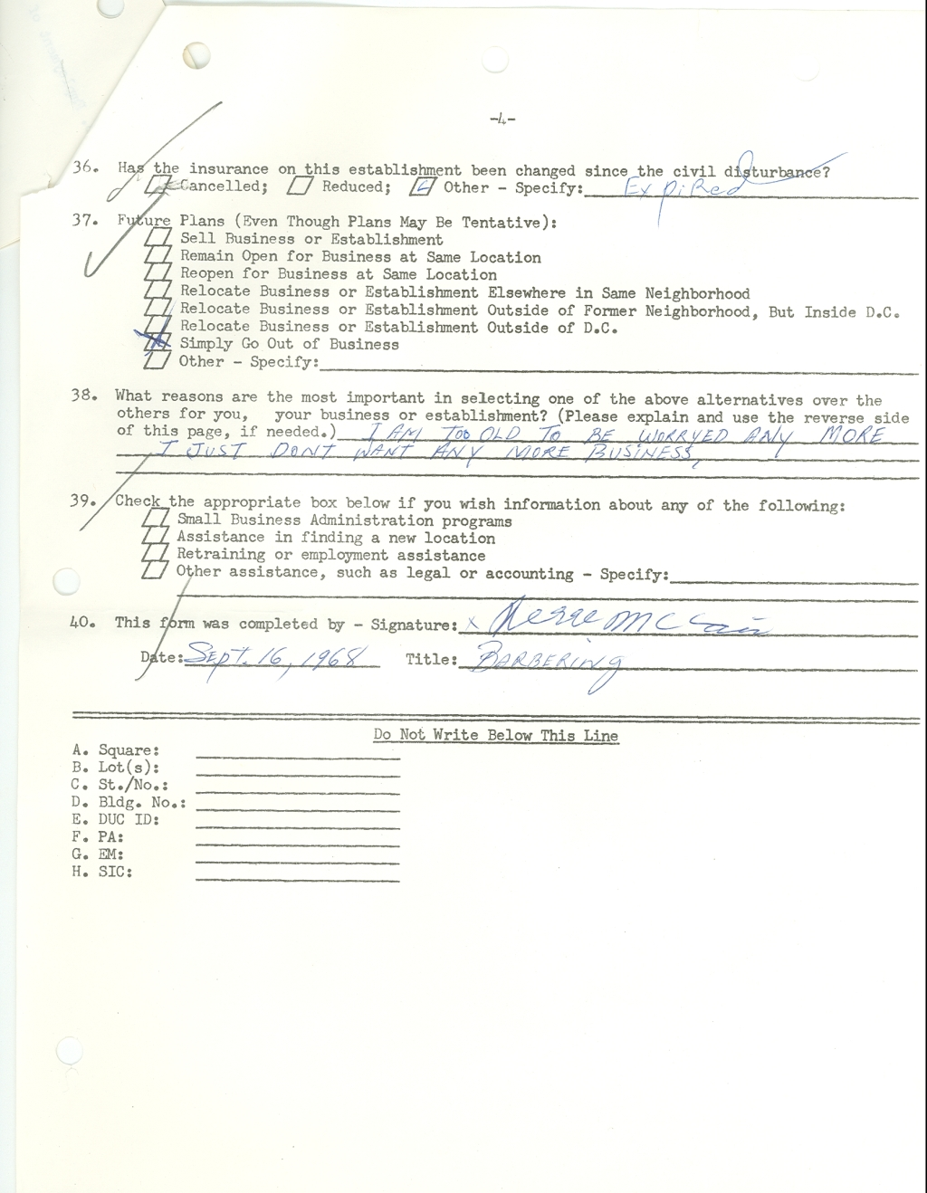Page 3 of post-riot form