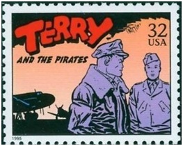 image of the Terry and the Pirates stamp