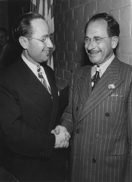 Philip M. Klutznick with Nicola Guili, 1945