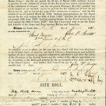 Enlistment paper for John Philip Sousa, front