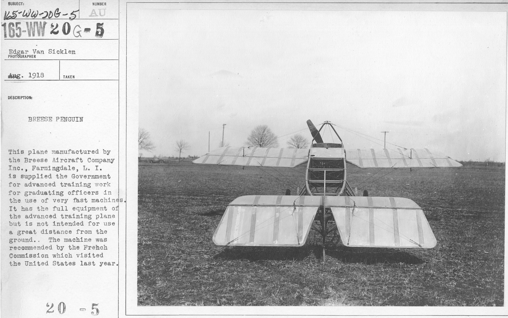 Image of plane and caption.