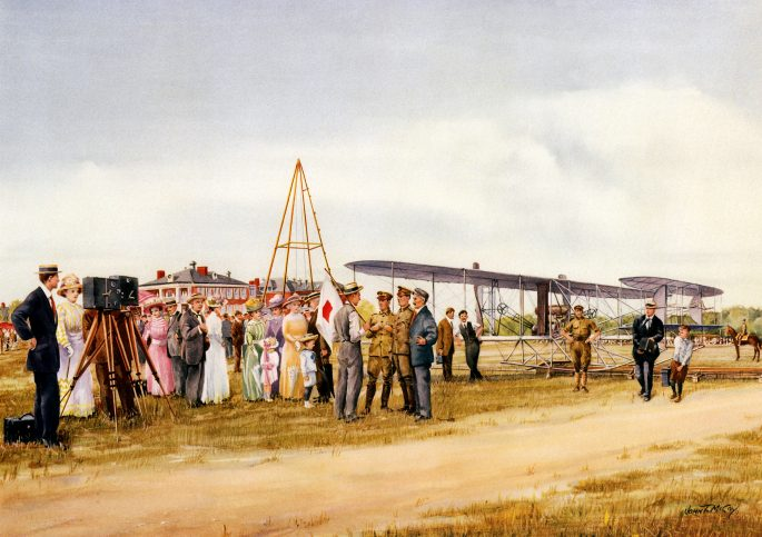 Painting of the events of July 30, 1909.