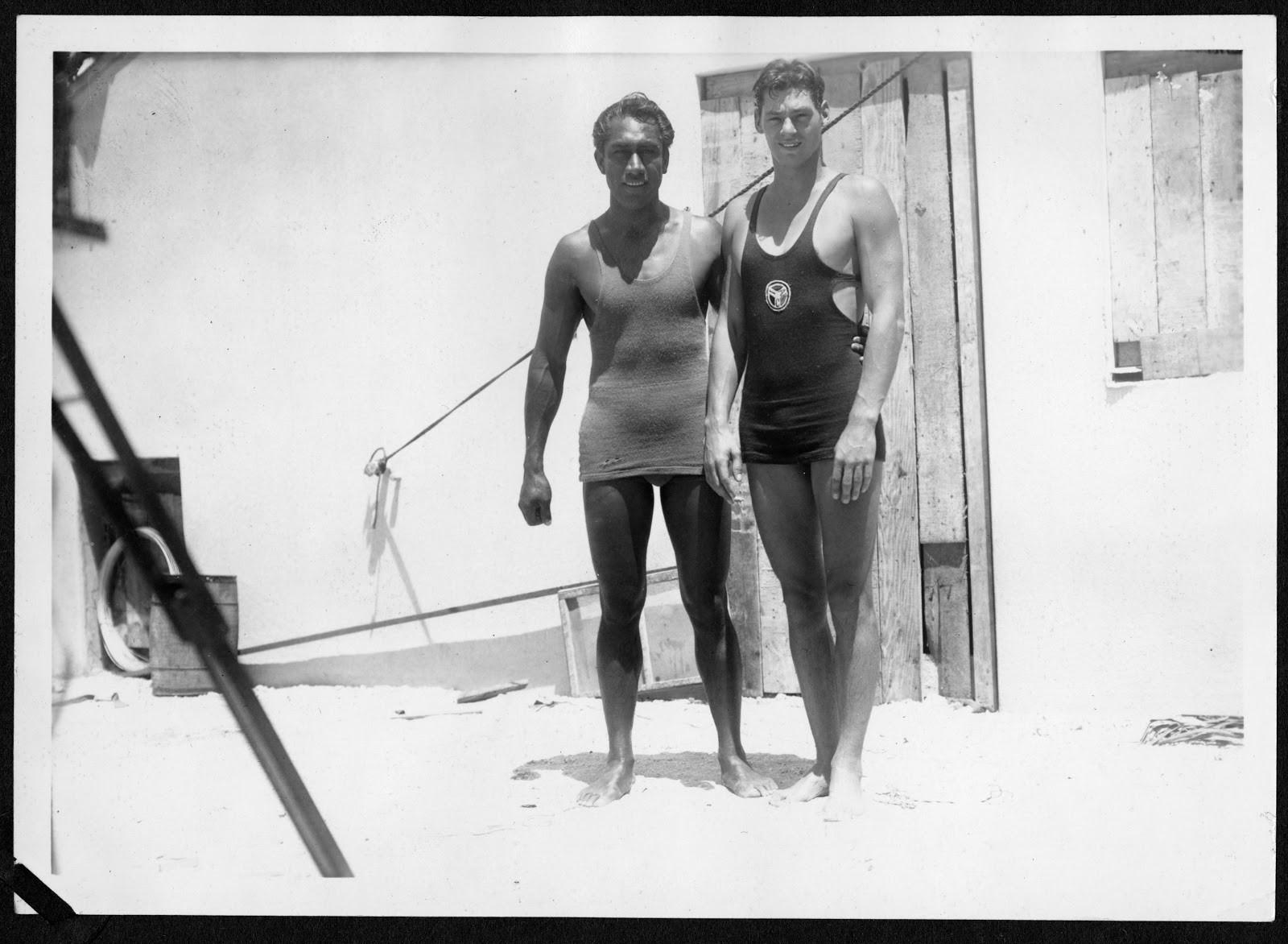 Image of Duke Kahanamoku and Johnny Weissmuller.