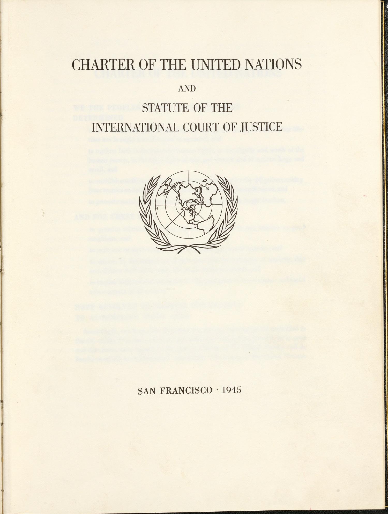 UN Charter.Title