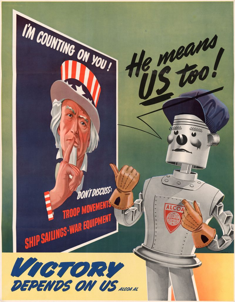 Poster featuring Helguera's Uncle Sam poster and Alcoa Al