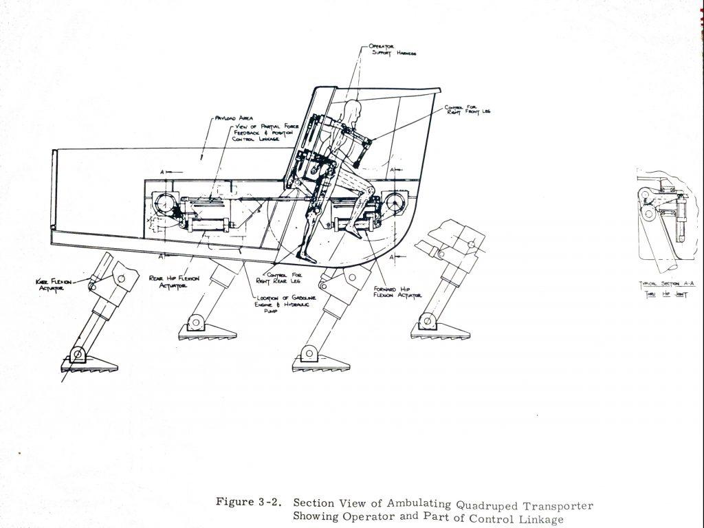 schematic of quadruped